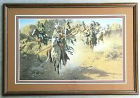 """FRANK MCCARTHY """"On The Old North Trail"""" Lithograph Hand Signed Limited Ed. /650"""