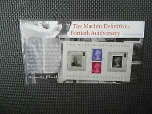 2007 Presentation Pack - The Machin Definitives Fortieth Anniversary - Pack 398