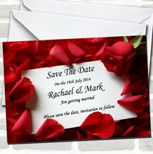 Red Rose Love Note Wedding Save The Date Cards