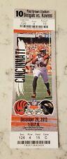 Cincinnati Bengals Baltimore Ravens Football Ticket 12/29 2013 A.J. Green Card