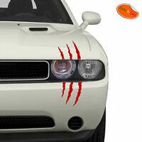 Adesivo graffio segni di artigli rosso stickers scratches red pvc cropped