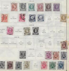 23 Belgium Stamps from Quality Old Antique Album 1921-1930