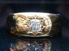 Stunning 18ct gold Victorian Gypsy star 0.48ct Old Mine cut diamond ring