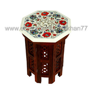 New Style Marble Inlay Side Table Modern Sofa Corner Table for Living Room Decor