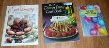 lot of 3 Entertaining Cookbooks: WILTON Entertaining / Dinner Party / Best Party