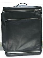 Hand Made Bill Amberg Black Leather 2 Wheeled Small - Medium Suitcase - Luggage