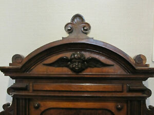 FRENCH ANTIQUES PEDIMENT WITH ANGELHEAD