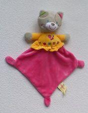 Simba Dickie NICOTOY Katze Cat in rosa gelb grau * Schmusetuch Schnuffeltuch *