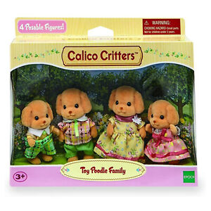 Calico Critters Toy Poodle Family Set CF1735 NEW IN STOCK
