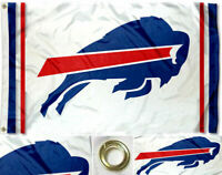 NEW Buffalo Bills White Flag Large 3'X5' NFL Banner  FREE SHIPPING