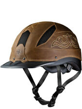 TROXEL CHEYENNE BROWN M LOW PROFILE HORSE RIDING WESTERN HELMET SureFit Pro