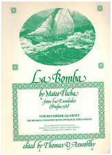 LA BOMBA - MATEO FLECHA (Las Ensaldadas, Prague 1581) RECORDER QUARTET RCE No 36