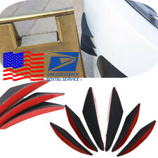 6 Slices ABS Car Front Bumper Spoiler Fin Double-side Adhesive tape Installation