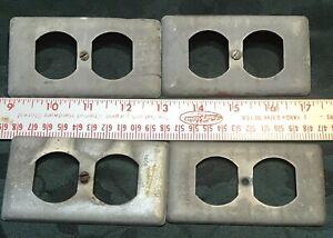 Vintage Raco Industrial Standard Outlet Plates (4) #Z1