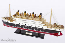NEW RMS TITANIC Handcrafted Wooden Model Boat Cruise Ship 60cm