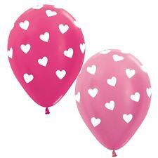 25pk Saint Valentin Biodégradable Fuchsia Pink Love Cœur Ballons Fête Décoration