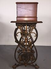 "ANTIQUE WILLCOX & GIBBS ""AUTOMATIC"" CHAIN STITCH TREADLE SEWING MACHINE 1871"