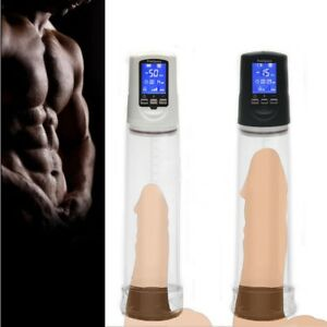 LCD Electric Vacuum Pump Enlarger Male Penis Stretcher Body Enhancer Erection