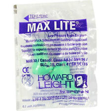20 Pairs of  Howard Leight Max Lite GREEN Ear Plugs