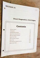 1984 85 86 LINCOLN MARK 7 VII CONTINENTAL BMW 2.4L DIESEL ENGINE DIAGNOSTICS