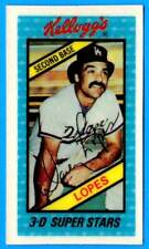 1980 Kellogg's DAVE LOPES (ex-mt) Los Angeles Dodgers