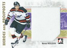(HCW) 2007-08 ITG Heroes and Prospects Jerseys KEVEN VEILLEUX Swatch TP 02269