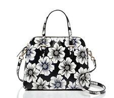 ORIGINAL KATE SPADE New York Satchel Bag Black White Floral Cedar Street Top Zip