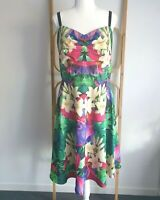 City Chic Floral 50s Style Rockabilly Plus Size Dress Size Small
