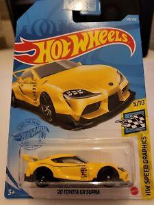 Hot Wheels 2021 '20 Toyota GR Supra *178/250 HW Speed Graphics *5/10 GTB76 Long