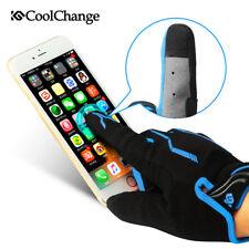 Mens Sports Gloves Full Finger Touchscreen Bike Cycling Gloves Winter Wear Blue