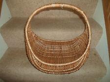 Fab Retro Traditional Old Brown Wicker Shopping Basket~War Weekend Vintage~Prop