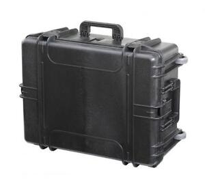 MAX620H250STR - Equipment Case wasserdicht, schwarz, 620x460x250mm inkl. auszieh