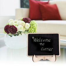 1pc Mini Blackboard Chalkboard With Stand Place Card Wordpad Rectangle Angled FT