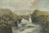 Alexander Reid of Kirkennan, Waterfall Landscape – c.1797 watercolour painting