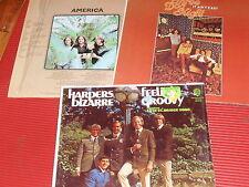 LOT OF 3 VINTAGE ROCK RECORD ALBUMS AMERICA/THREE DOG NIGHT/HARPERS BIZARRE