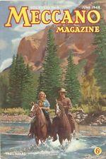 1948 JUNE 33589  Meccano Magazine Cover Picture  TRAIL RIDING