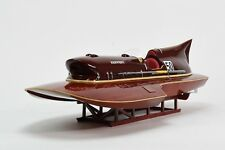 "Ferrari Hydroplane 31"" - Handcrafted Wooden Racing Boat Model"