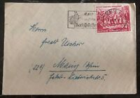 1951 Berlin East Germany DDR Cover to Mainz Mao Tse Tung  # 83 Stamp