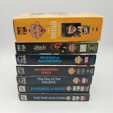 Lot Of (7) Doctor Who CBS Fox/Playhouse Video - VHS Tapes (Tested)