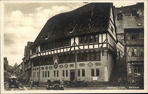 Stolberg Sachsen-Anhalt Harz ~1920/30 Rathaus Oldtimer Auto Autos Strassen Parti