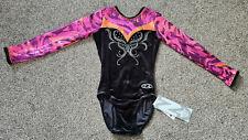 "The Zone Lola Long Sleeved Shiny Wetlook Gymnastic Leotard Z525 Size 28"" Age 7-8"