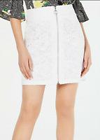 INC New sz 16 Women's XL/XXL Bright White Lace Zipper Mini Skirt $69 NWT