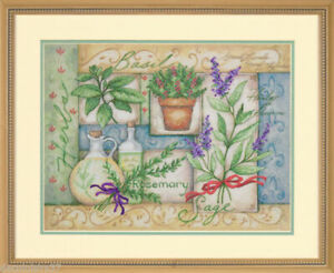 Dimensions - Herb Garden Collage Craft Tapestry / Cross Stitch - Kit #70-03241