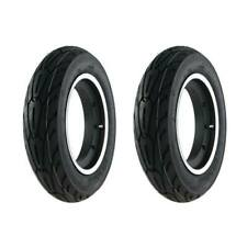 Front & Rear Vespa 3.50x10 SIP Tubeless rims Performer Tyres On A Black/Silver