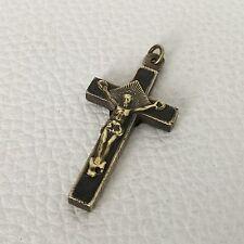 MEDAILLE PENDENTIF Croix XIXè Ste Anne d'Auray Antique HOLY MEDAL