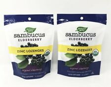 Nature's Way Sambucus Elderberry Zinc Organic Lozenges Lot 2 Packs 24 Count Each