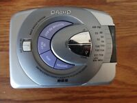 CASIO AS-250GR AM/FM STEREO RADIO CASSETTE PLAYER
