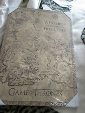 Game of Thrones  map of westeros and the free cities  Canvas art picture