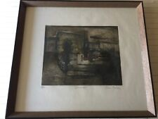 René Carcan (1925-1993) Color Aquatint Etching Print, Signed & Numbered, Framed