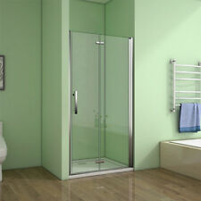 1850x760mm Frameless Hinged Bifold Shower Door Enclosure 6mm Glass   BE